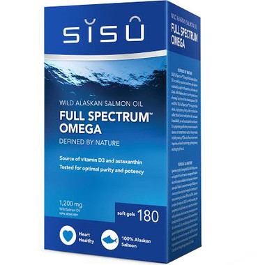 SISU Full Spectrum Omega, 180 Softgels | NutriFarm.ca