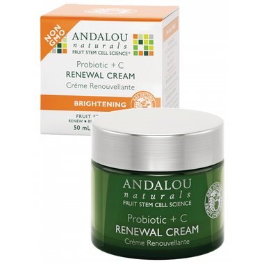 Andalou Naturals Probiotic + C Renewal Cream, 50 ml | NutriFarm.ca