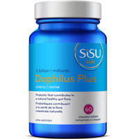 SISU Dophilus Plus Chewable 2 billion (Kids) Cherry, 60 Tablets | NutriFarm.ca