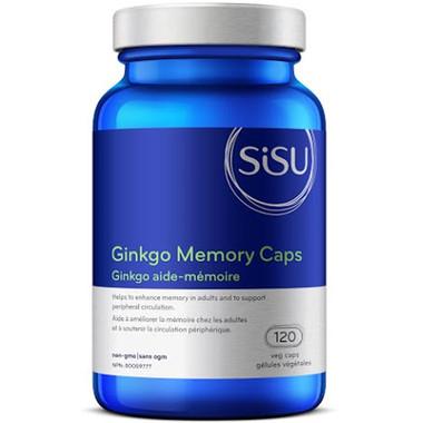 SISU Ginkgo Memory, 120 Vegetable Capsules