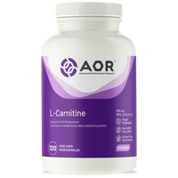 AOR L-Carnitine 500 mg, 120 Vegetable Capsules | NutriFarm.ca