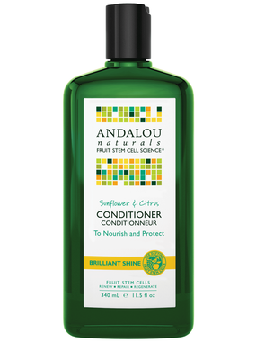 Andalou Naturals Sunflower and Citrus Shine Conditioner, 340 ml | NutriFarm.ca
