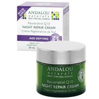 Andalou Naturals Resveratrol Q10 Night Repair Cream, 50 ml | NutriFarm.ca