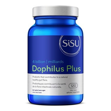 SISU Dophilus Plus 4 billion, 120 Vegetable Capsules   NutriFarm.ca