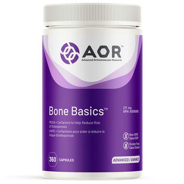 AOR Bone Basic, 360 Vegetable Capsules | NutriFarm.ca