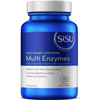 SISU Multi Enzymes Extra Strength, 60 Vegetable Capsules | NutriFarm.ca