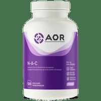 AOR N-Acetylcysteine, 120 Vegetable Capsules | NutriFarm.ca