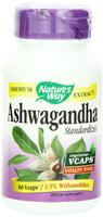 Nature's Way Ashwagandha Standardized, 60 Vegetable Capsules | NutriFarm.ca