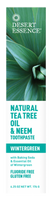 Desert Essence Natural Tea Tree Oil & Neem Toothpaste, 176 g | NutriFarm.ca
