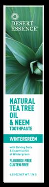 Desert Essence Natural Tea Tree Oil & Neem Toothpaste, 176 g | NutriFarm.ca