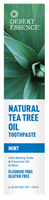 Desert Essence Natural Tea Tree Oil Toothpaste (Mint), 176 g | NutriFarm.ca