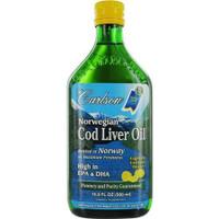 Carlson Laboratories Cod Liver Oil Lemon, 500 ml   NutriFarm.ca