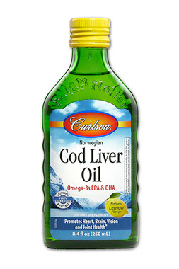 Carlson Laboratories Cod Liver Oil Lemon, 250 ml | NutriFarm.ca