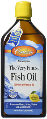 Carlson Laboratories The Very Finest Fish Oil, 500 ml | NutriFarm.ca