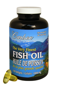Carlson Laboratories Very Finest Norwegian Fish Oil, 150 Softgels | NutriFarm.ca