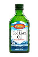 Carlson Laboratories Norwegian Cod Liver Oil, 250 ml | NutriFarm.ca