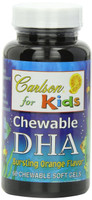 Carlson Laboratories Carlson for Kids DHA 100 mg Orange, 60 Chewable Softgels | NutriFarm.ca