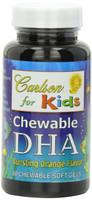 Carlson Laboratories Carlson for Kids DHA 100 mg Orange, 60 Chewable Softgels | NutriFarm.ca