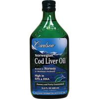 Carlson Laboratories Norwegian Cod Liver Oil, 500 ml   NutriFarm.ca