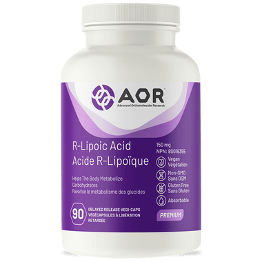 AOR R-Lipoic Acid, 90 Vegetable Capsules | NutriFarm.ca