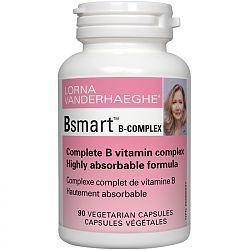Lorna Vanderhaeghe Bsmart Vitamin B Complex, 90 Vegetarian Capsules | NutriFarm.ca
