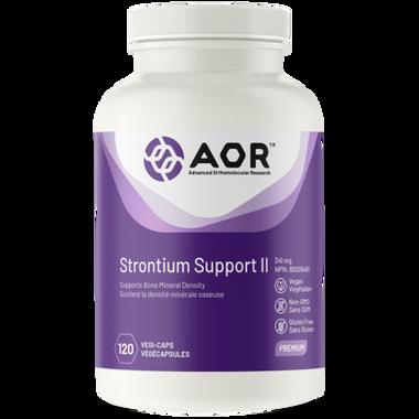 AOR Strontium Support II, 120 Vegetable Capsules | NutriFarm.ca