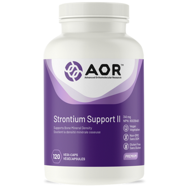 AOR Strontium Support II, 120 Vegetable Capsules | NutriFarm.ca