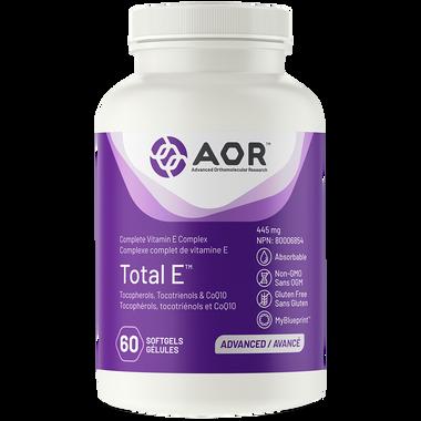 AOR Total E, 60 Softgels | NutriFarm.ca