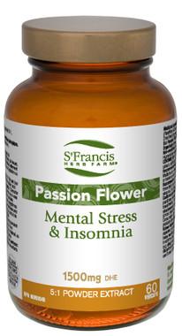 St. Francis Herb Farm Passion Flower, 60 Vegetable Capsules | NutriFarm.ca