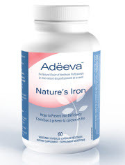 Adeeva Nature's Iron, 60 Vegetable Capsules | NutriFarm.ca