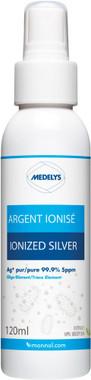 Medelys Ionized Silver, 120 ml Spray Bottle | NutriFarm.ca
