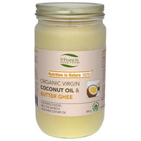 St. Francis Herb Farm Organic Virgin Coconut Oil and Butter Ghee, 800 g | NutriFarm.ca