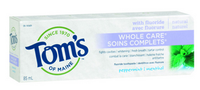 Tom's of Maine Whole Care Toothpaste Peppermint, 85 ml | NutriFarm.ca