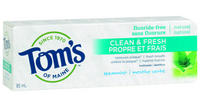 Tom's of Maine Clean and Fresh Spearmint, 85 ml | NutriFarm.ca