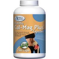 Omega Alpha Cal Mag Plus, 240 Vegetable Capsules   NutriFarm.ca
