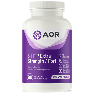 AOR 5-HTP Extra Strength (Formerly Tryfonia Max), 90 Vegetable Capsules | NutriFarm.ca