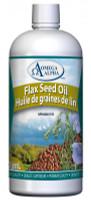 Omega Alpha Flax Seed Oil, 500 ml | NutriFarm.ca