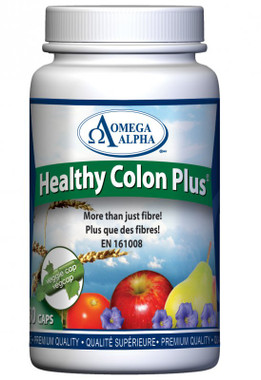 Omega Alpha Healthy Colon Plus, 180 Vegetable Capsules | NutriFarm.ca