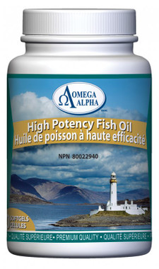 Omega Alpha High Potency Fish Oil Concentrate, 90 Softgels   NutriFarm.ca