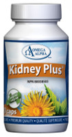 Omega Alpha Kidney Plus, 90 Vegetable Capsules | NutriFarm.ca