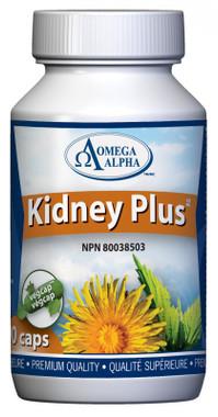 Omega Alpha Kidney Plus, 90 Vegetable Capsules | NutriFarm.ca