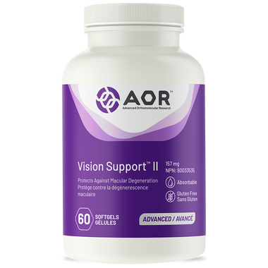 AOR Vision Support ii, 60 Softgels | NutriFarm.ca