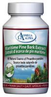Omega Alpha Maritime Pine Bark Extract, 60 Vegetable Capsules | NutriFarm.ca