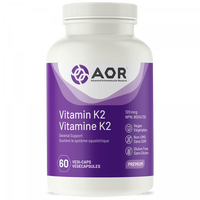 AOR Vitamin K2, 60 Vegetable Capsules | NutriFarm.ca