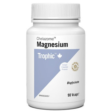 Trophic Chelazome Magnesium, 90 Vegetable Capsules | NutriFarm.ca