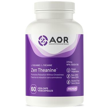 AOR Zen Theanine, 60 Vegetable Capsules | NutriFarm.ca