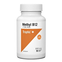 Trophic Methyl B12 with Folic Acid, 90 Tablets | NutriFarm.ca