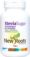 New Roots Stevia Sugar Spoonable, 250 g | NutriFarm.ca