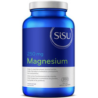 SISU Magnesium 250 mg, 200 Vegetable Capsules | NutriFarm.ca