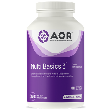 AOR Multi Basics 3, 180 Vegetable Capsules | NutriFarm.ca
